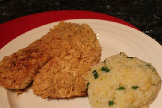 Lime Tortilla Chip Crusted Tilapia