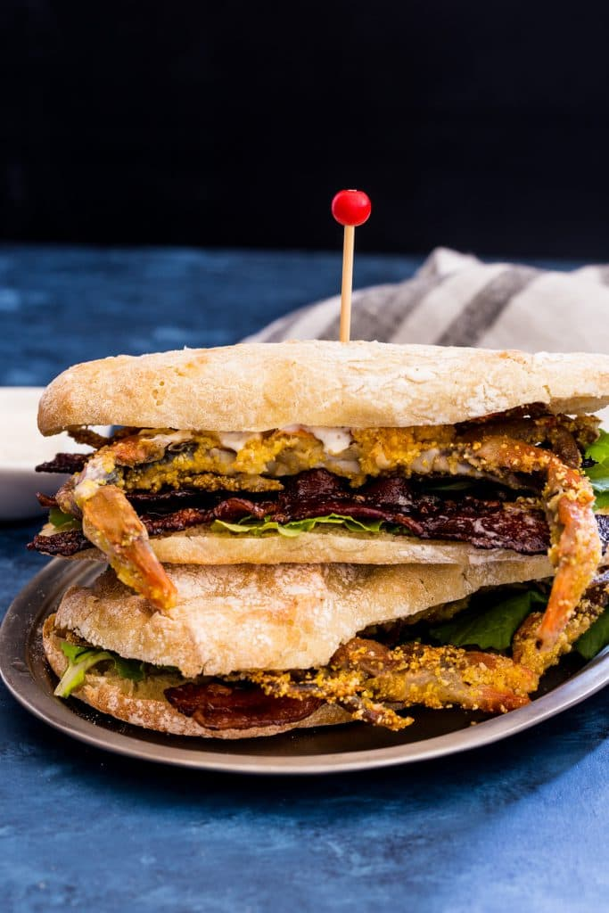 SOFT SHELL CRAB BLT | GIRLINTHELITTLEREDKITCHEN.COM