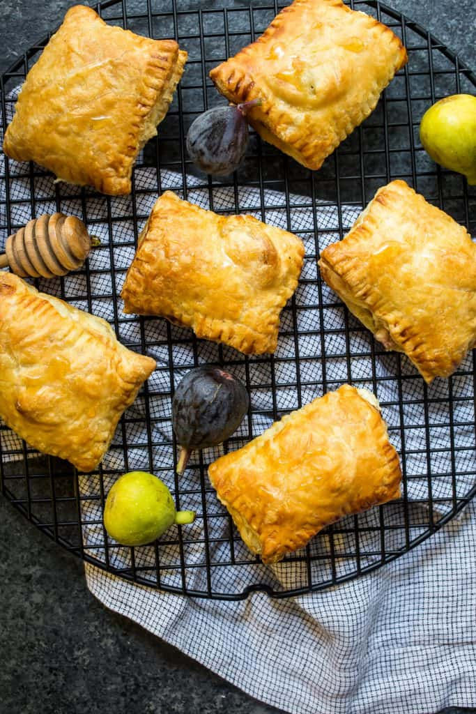 Goat Cheese and Fig Pockets | girlinthelittleredkitchen.com