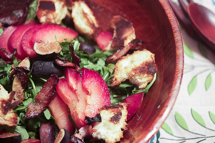 Fig and Pluot Salad from The Girl In The Little Red Kitchen