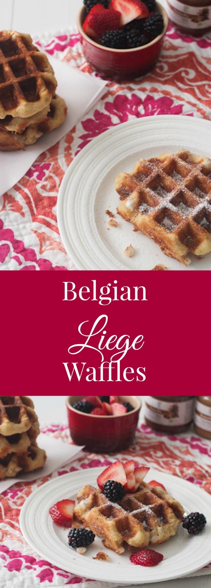 Belgian Liege Waffles | girlinthelittleredkitchen.com