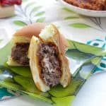 Mushroom Meatball Parmigiana Slider