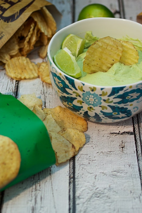 Avocado Lime Goat Cheese Dip from The Girl In The Little Red Kitchen