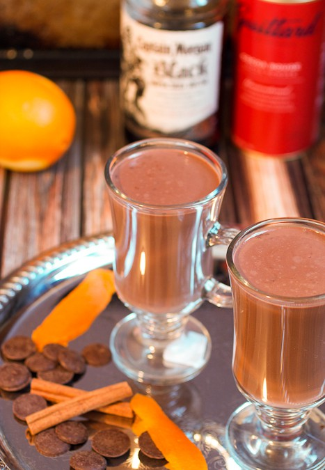 Orange Cinnamon Spiked Hot Chocolate #CaptainsTable