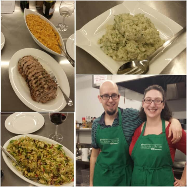 Dishes from Healthy Holiday Meals Cooking Class