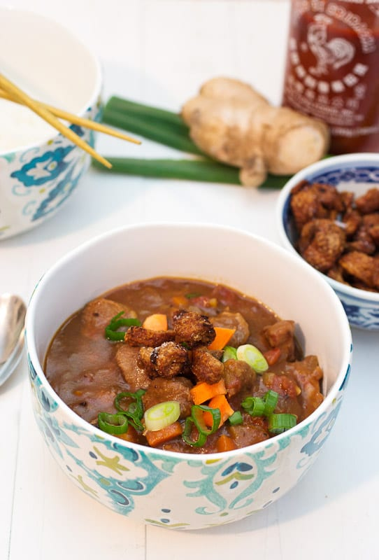 Asian Five Spice Duck Chili from The Girl In The Little Red Kitchen