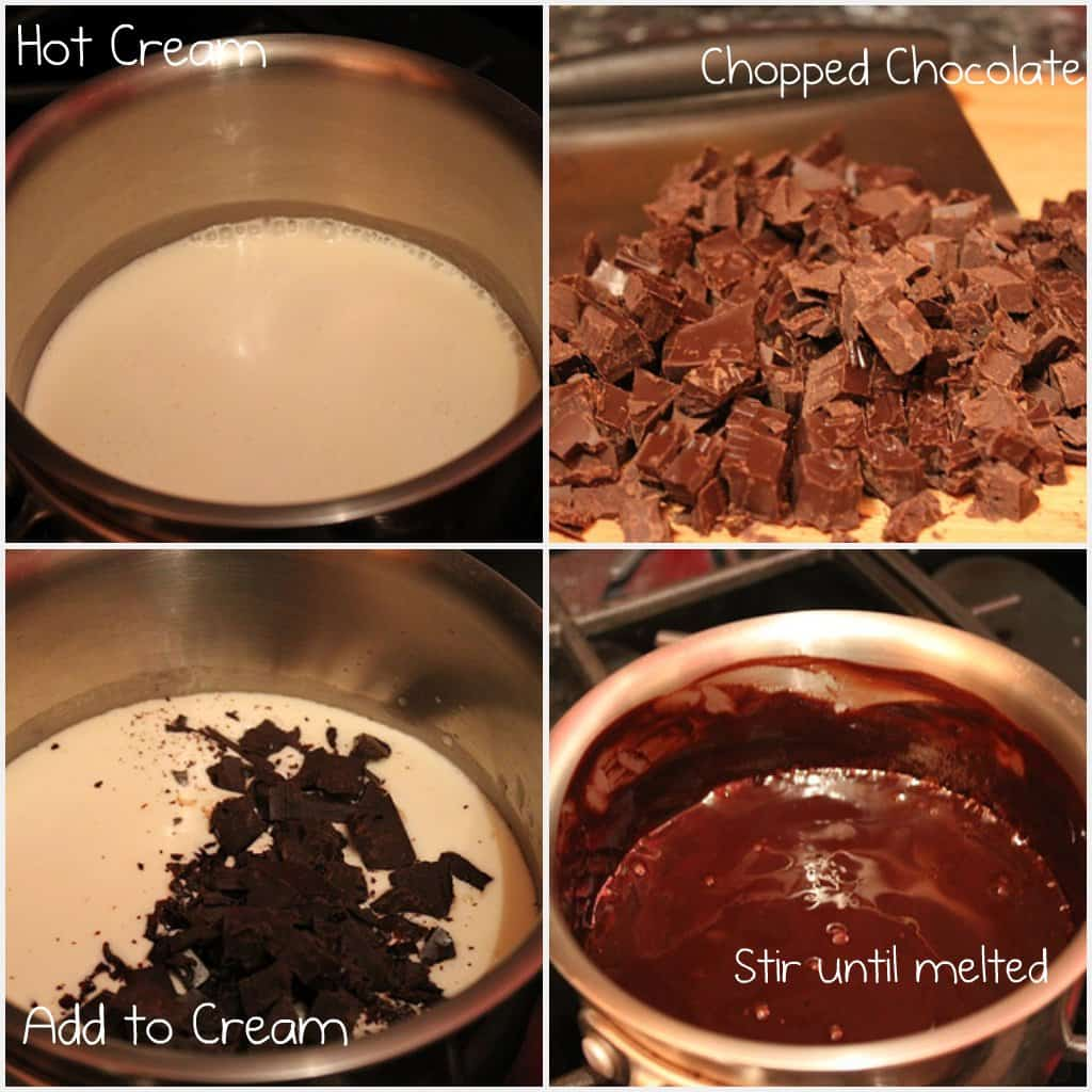 How to make Chocolate Ganache | The Girl in the Little Red Kitchen