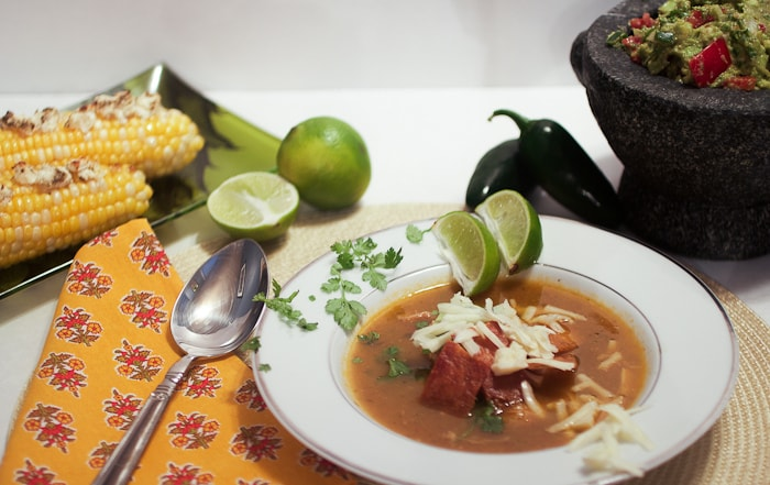 Chicken Tortilla Soup #SundaySupper