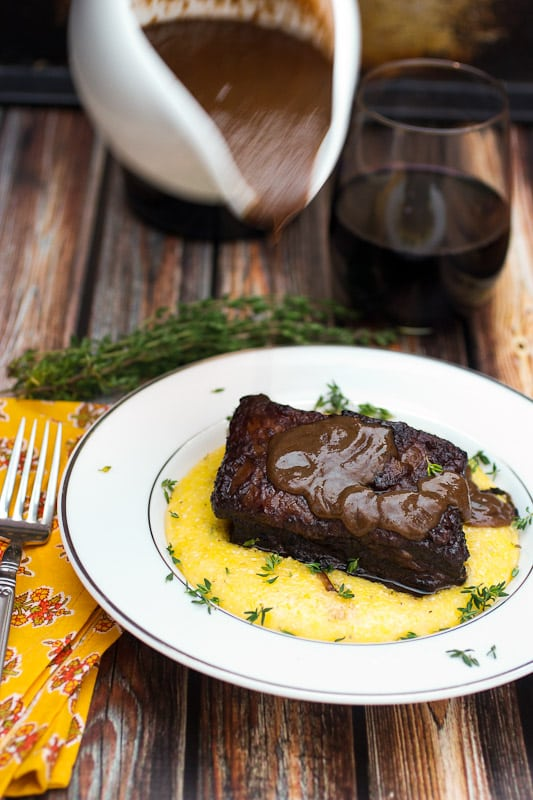 Red Wine Braised Short Ribs from The Girl In The Little Red Kitchen