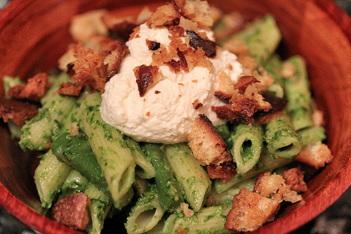 Pasta with Asparagus and Ramp Pesto | The Girl in the ...