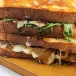 Caramelized Onion, Mushroom and Arugula Grilled Cheese-3
