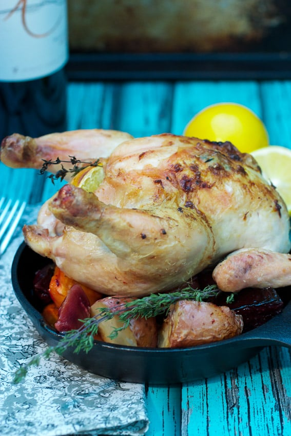 Meyer Lemon Roasted Petit Poulet from The Girl In The Little Red Kitchen