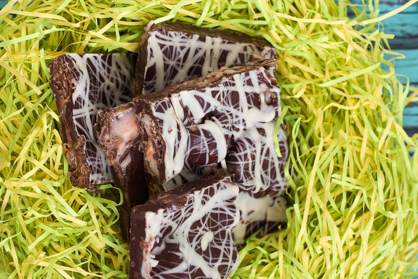 Cadbury Egg Bark from The Girl In The Little Red Kitchen