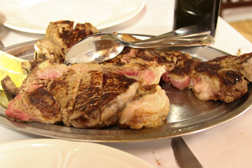 Fiorentina Steak from The Girl In The Little Red Kitchen