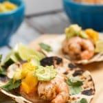 Shrimp, Avocado and Mango Tacos