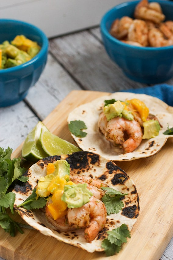 Shrimp Tacos With Avocado - Chimichurri Sauce Recipe — Dishmaps