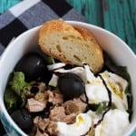 Tuna, Burrata and Black Olive Salad-4