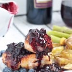 Barbecue Chicken with Pinot Blueberry Sauce-5