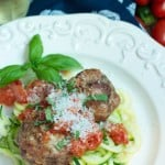 Meatballs with Vegetables Noodles and Fresh Tomato Sauce-2