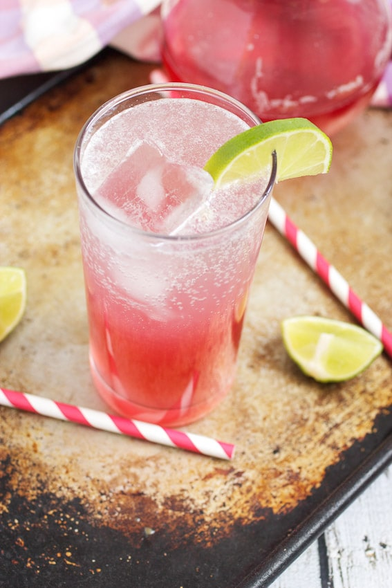 Rhubarb Paloma from The Girl In The Little Red Kitchen