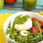 Zucchini Noodle Salad with Arugula, Burrata and Tomatoes-4