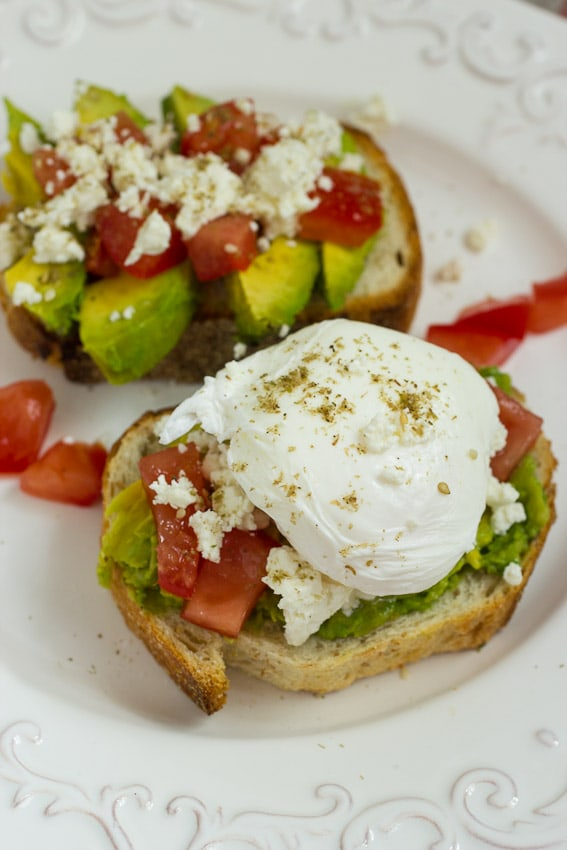 Avocado Tomato and Feta Toast #SundaySupper #ChooseDreams from The Girl In The Little Red Kitchen