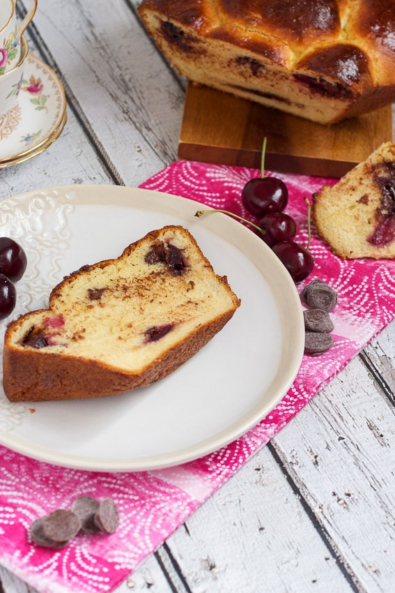 Chocolate Cherry Brioche from The Girl In The Little Red Kitchen
