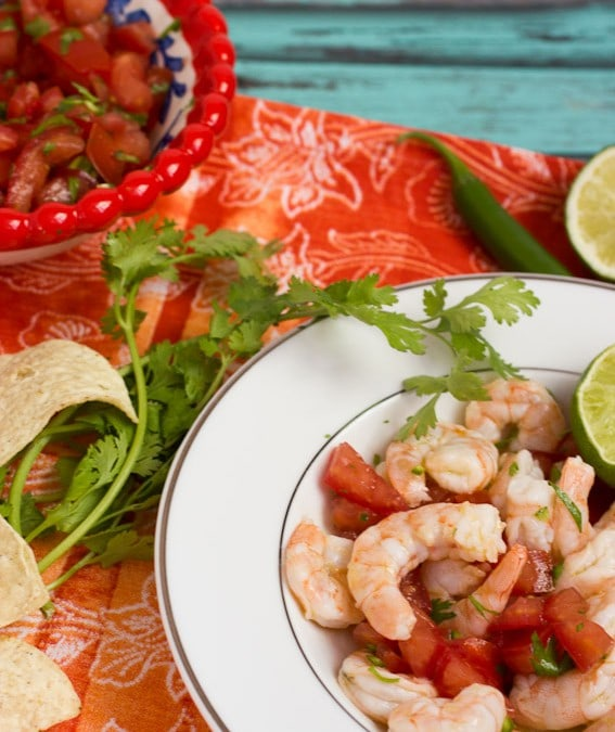 Shrimp Ceviche {Review of Authentic Mexican Cooking}