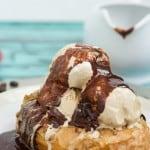 Coffee and Donuts Ice Cream Sundae-3