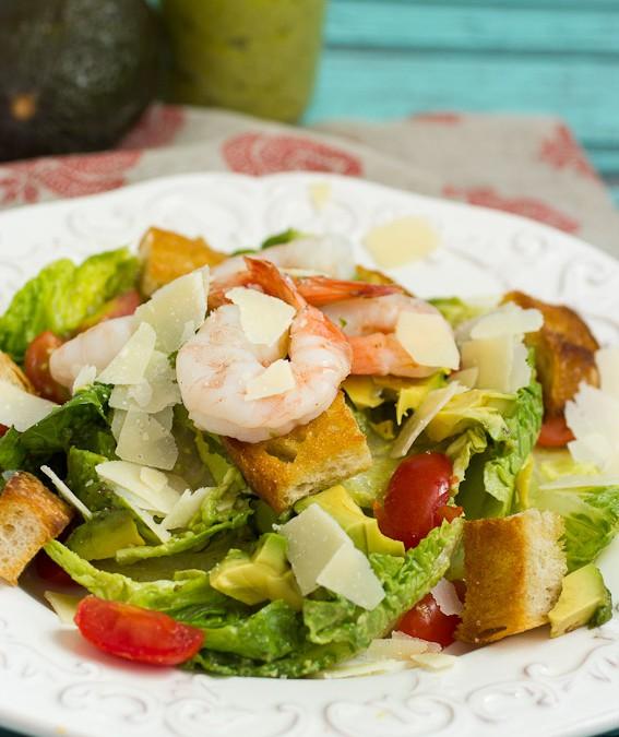 Shrimp Avocado Caesar Salad #WeekdaySupper #ChooseDreams