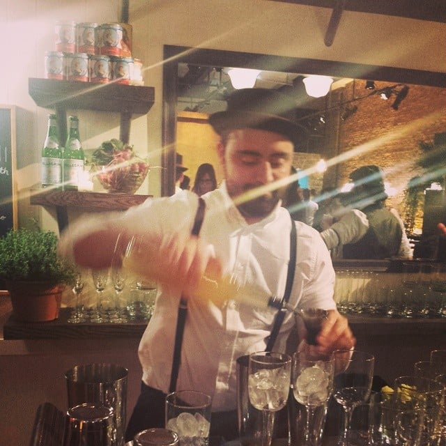 S.Pellegrino bartender mixing up cocktails