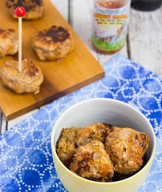 Carrot Habanero Duck Meatballs #10DaysofTailgate