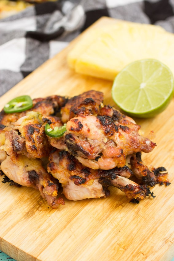 Pineapple Chile Lime Chicken Wings from The Girl In The Little Red Kitchen