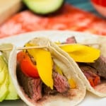 Skirt Steak Tacos with Roasted Peppers-3