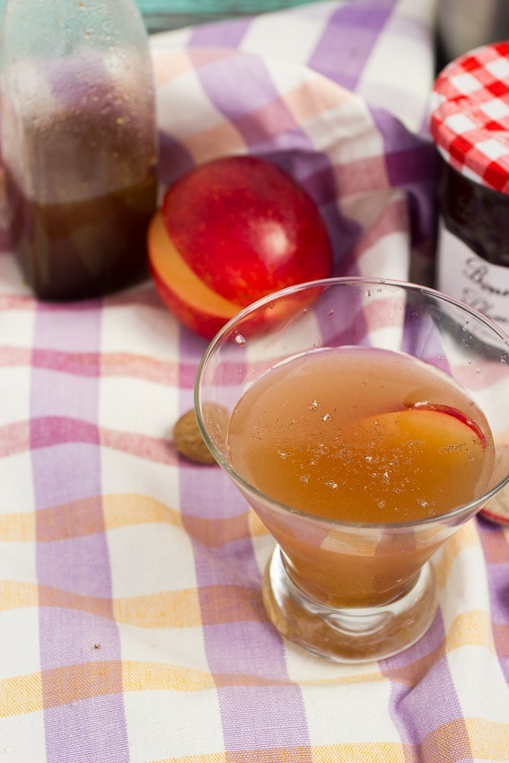Spiced Plum Jam & Gin Cocktail from The Girl In The Little Red Kitchen