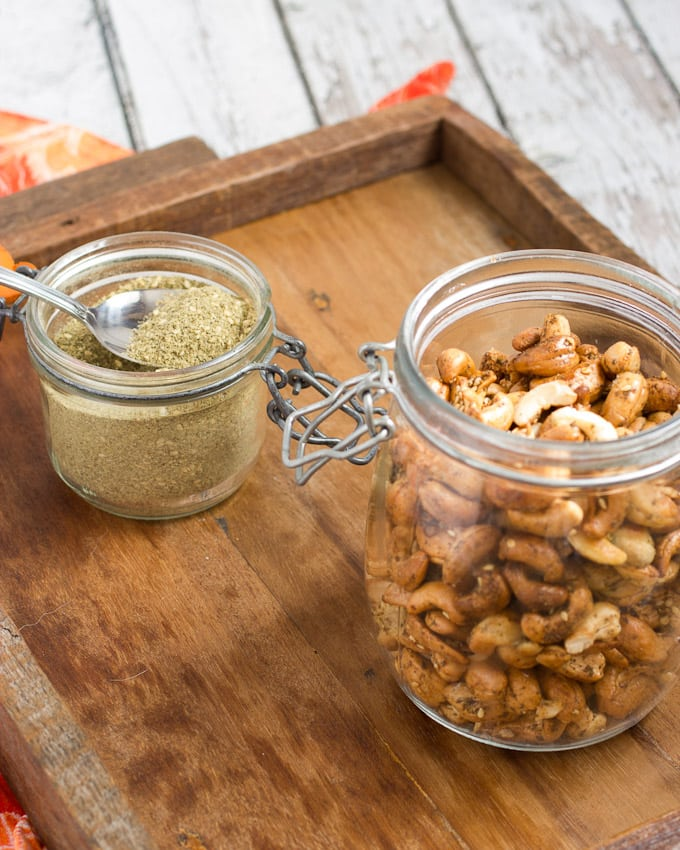 Za'atar Spiced Cashews from The Girl In The Little Red Kitchen