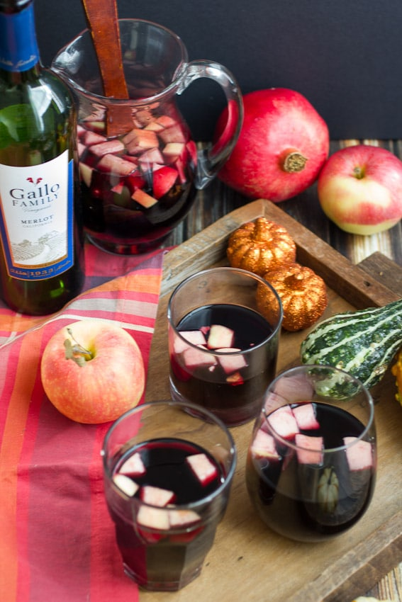 Poison Apple Pomegranate Sangria #SundaySupper   The Girl In The Little Red Kitchen