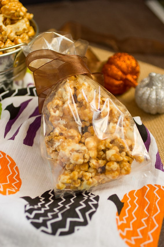 Peanut Butter White Chocolate Popcorn- The Girl In The Little Red Kitchen