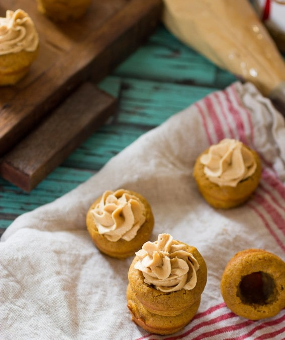 Pumpkin Cookie Cups with Biscoff Buttercream #CookieWeek