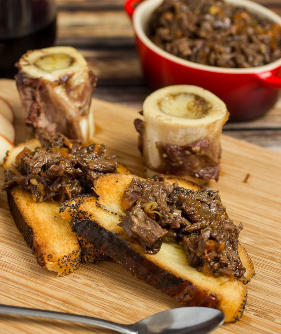 Roasted Bone Marrow with Oxtail Marmalade {The New Charcuterie Cookbook}