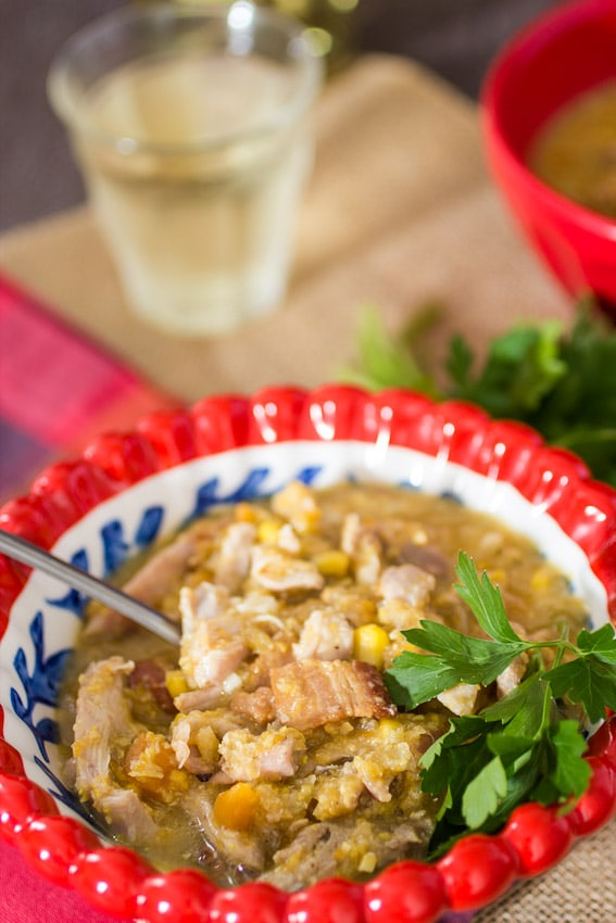 Chicken and Corn Chowder #SundaySupper from The Girl In The Little Red Kitchen