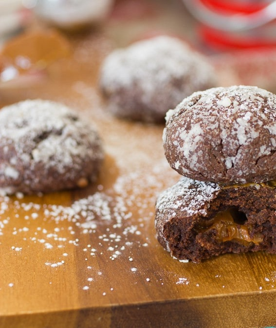 Dulce de Leche Stuffed Chocolate Cookies #CookieWeek