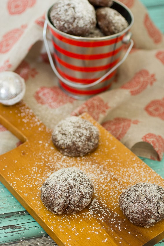 Dulche de Leche Stuffed Chocolate Cookies - The Girl In The Little Red Kitchen