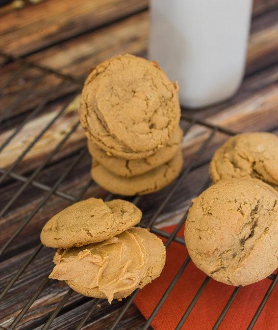 Maple Peanut Butter Sandwich Cookies
