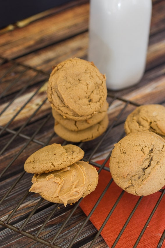 Maple Peanut Butter Sandwich Cookies #CookieWeek from The Girl In The Little Red Kitchen
