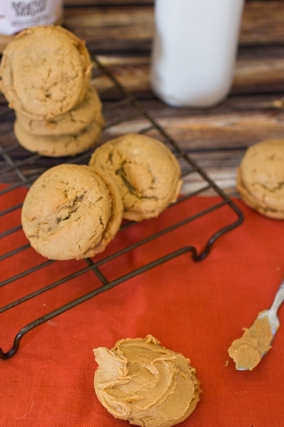 Maple Peanut Butter Sandwich Cookies - The Girl In The Little Red Kitchen