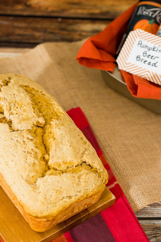 Pumpkin  Beer Bread #SundaySupper from The Girl In The Little Red Kitchen