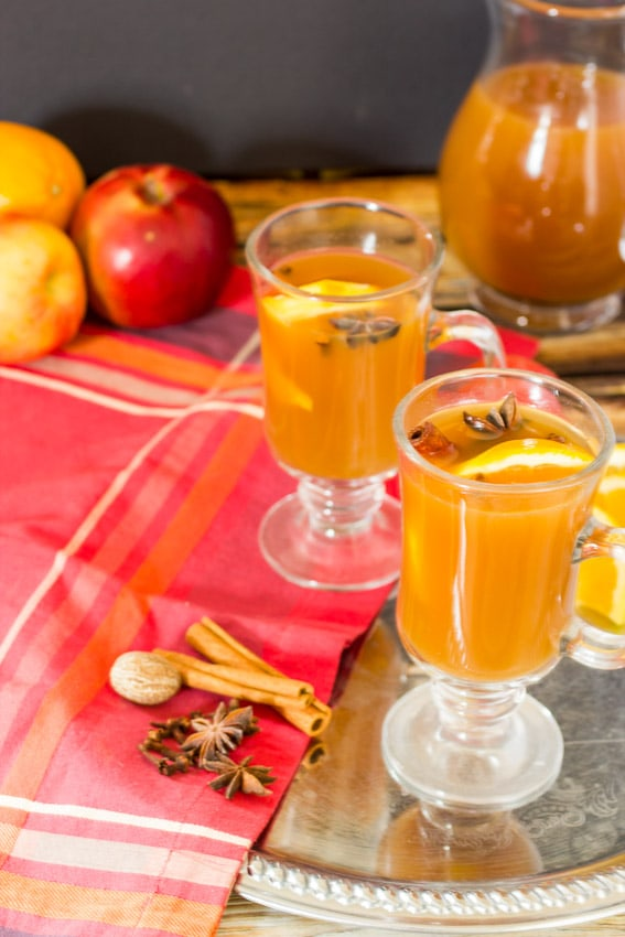 Spiked Mulled Apple Cider- The Girl In The Little Red Kitchen