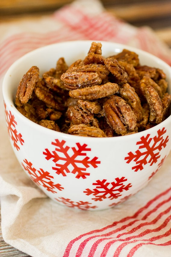Vanilla Cardamom Candied Pecans | The Girl In The Little Red Kitchen