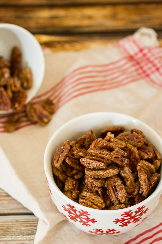Vanilla Cardamom Candied Pecans from The Girl In The Little Red Kitchen